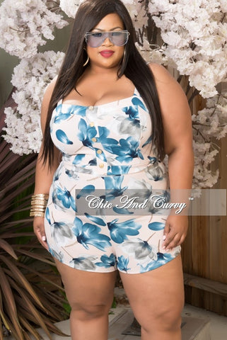 New Plus Size 2 Piece Shorts Set in Pink and Navy