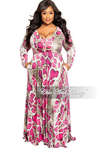 Final Sale Plus Size Strapless Ruched BodyCon Dress in Hot Pink