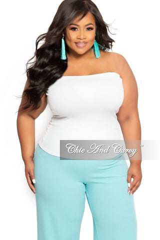 Final Sale Plus Size Spaghetti Strap Camisole in White