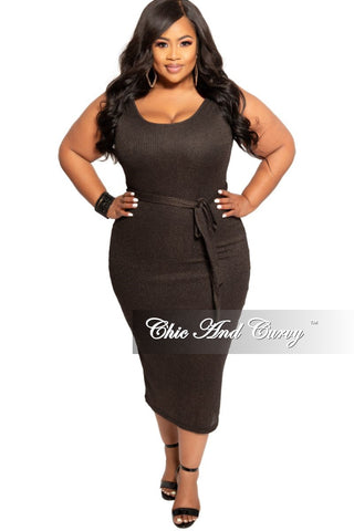 New Plus Size Ruffle Shoulder Peplum Top with High-Low Side in Black