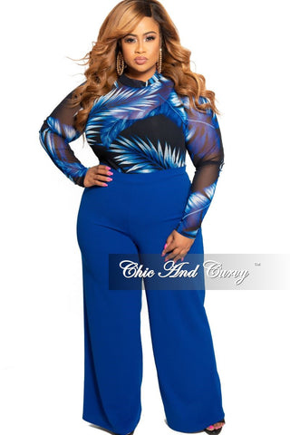 New Plus Size Long Sleeve Ribbed Knitted Dress in Blue Multi Color Stripe Print