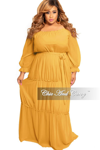 Final Sale Plus Size Spaghetti Strap Peasant Maxi Dress in Black