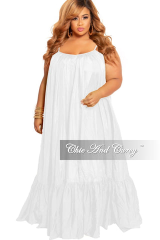 Final Sale Plus Size Sleeveless Lace Dress with Zipper Front in White