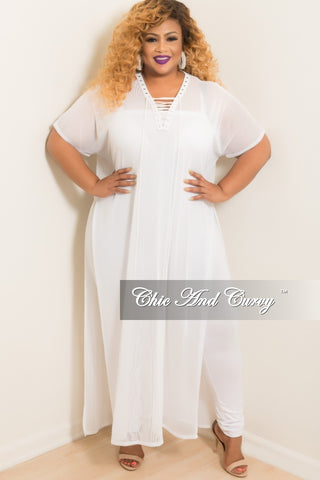 Final Sale Plus Size Short Sleeve Crop T-shirt in White