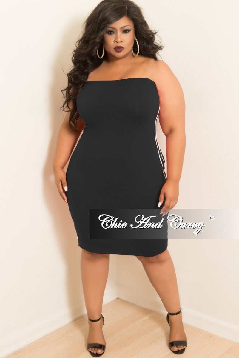 Plus Size White Tube Dress – Fashion dresses