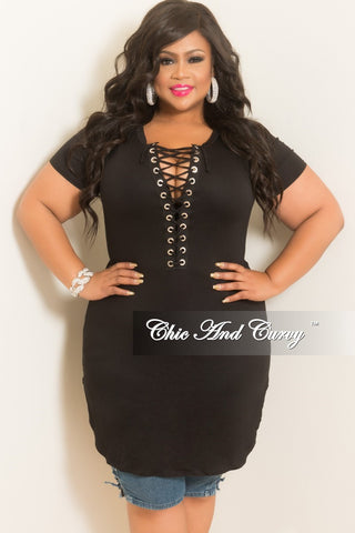 Final Sale Plus Size T Shirt Dress In Mint Chic And Curvy