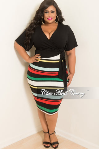 e563fd14887 New Plus Size Stripe BodyCon Tube Dress Skirt in Green Red Off White Black  and Yellow.   48.00. New Plus Size 2-Piece Jacket and Pants ...