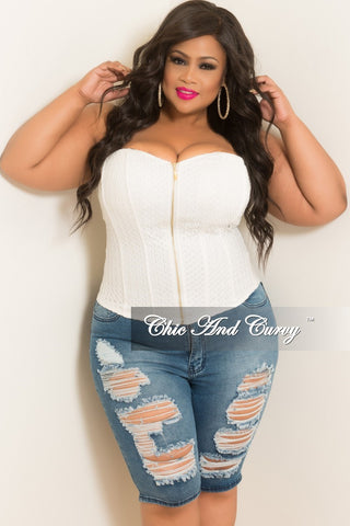 Final Sale Plus Size Light Denim Skirt with White Tulle Bottom