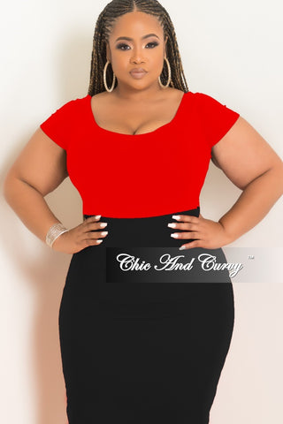 Final Sale Plus Size Crisscross Bodysuit in Black