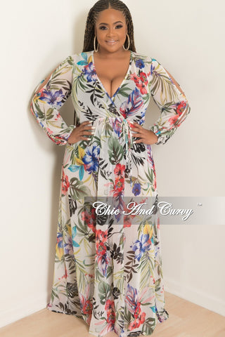 Final Sale Plus Size Sheer Knee Length Cover Up Dress in Tan and Black