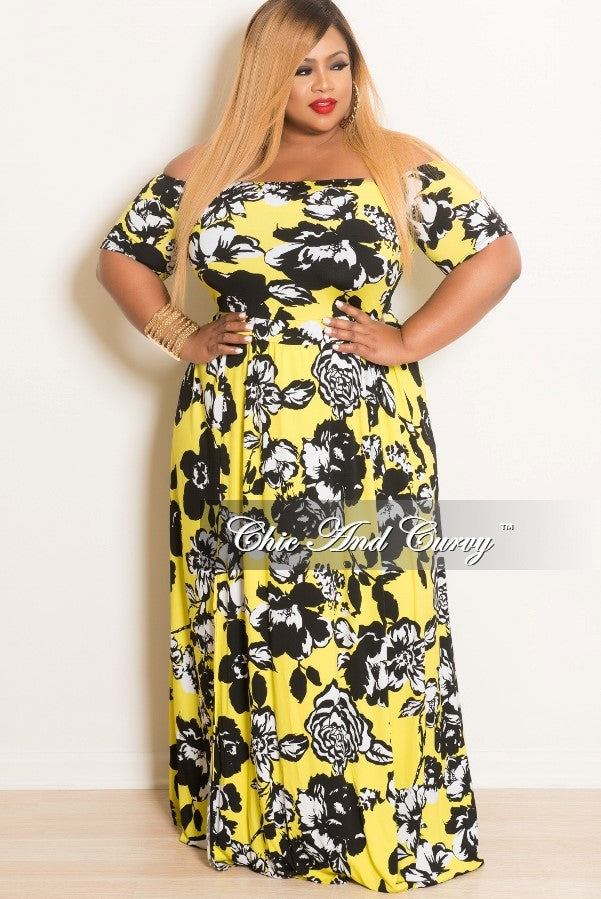 New Plus Size Off The Shoulder Romper with Attached Long Skirt ...
