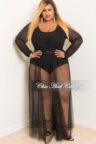 Final Sale Mesh Cover-Up Skirt in Black