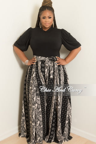 17970f833961a Final Sale Plus Size Wide Leg Pants with Attached Tie in Black and Beige  Paisley Print.   68.00. New Plus Size 2-Piece Faux Wrap Sleeveless Deep V  Top ...