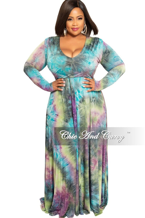 New Plus Size V-Neck Gown in Purple Sherbert