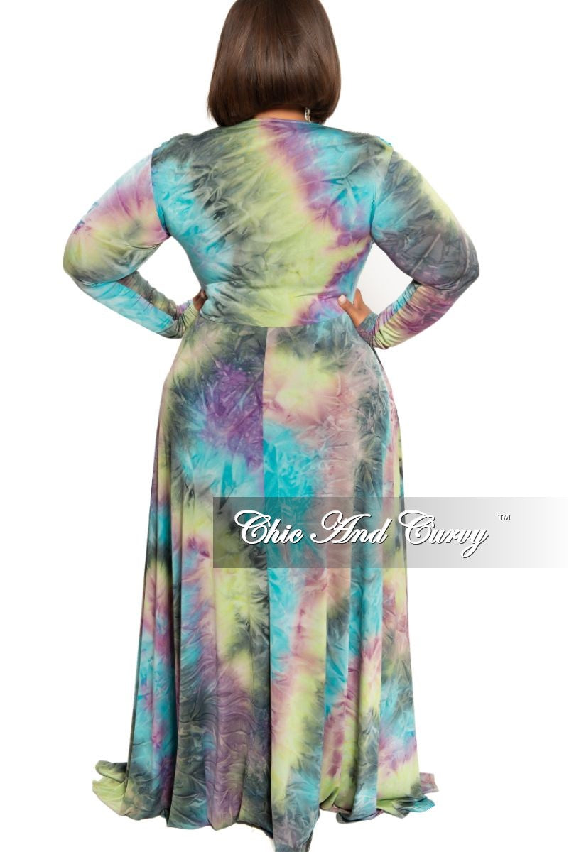 Final Sale Plus Size V-Neck Gown in Purple Sherbert