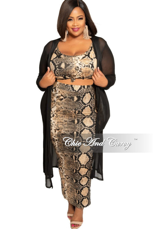 Final Sale Plus Size Long Sleeve Mesh Duster in Black