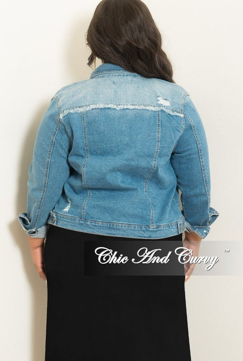 New Plus Size Jacket in Denim