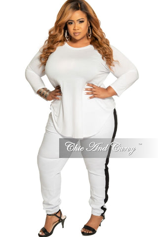 Final Sale Plus Size Short Sleeve Shirt in White