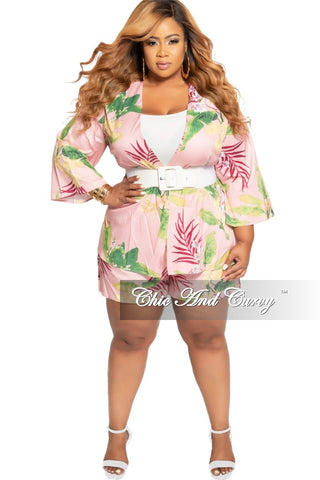 Final Sale Plus Size 2-Piece Off the Shoulder Overlay Top and Skirt Set in Black Green Orange Gray and Red Leaf Print