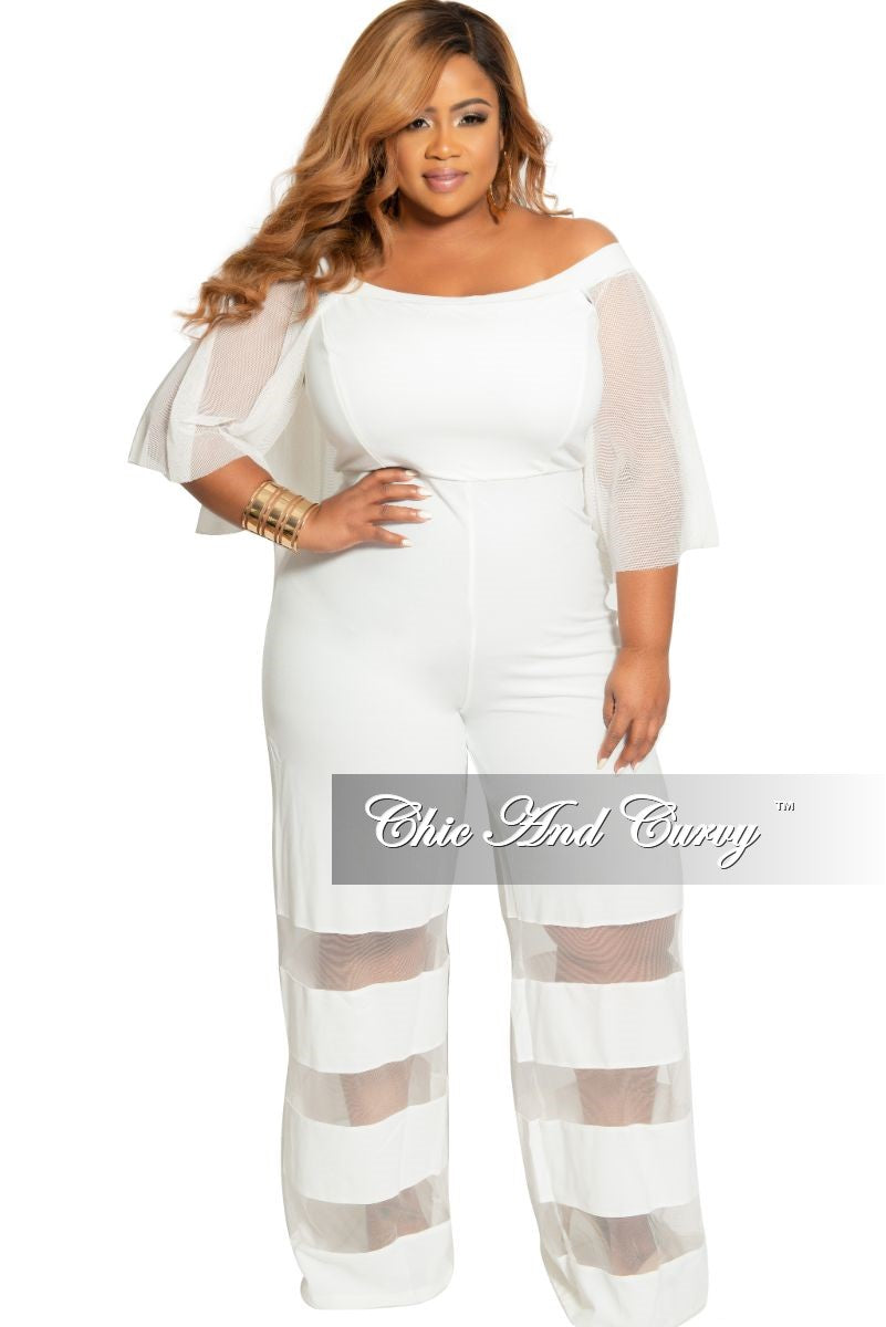 White Black One Shoulder Ruffle Slit Wide Leg Jumpsuit Dress Pantsuit