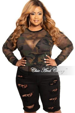 New Plus Size Peplum Top with Front Tie and Ruffle Sleeves in Kelly Green