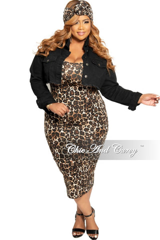Final Sale Plus Size Faux Wrap Dress with Ruffle Sleeves, Attached Tie and Front Slit in Black Chiffon