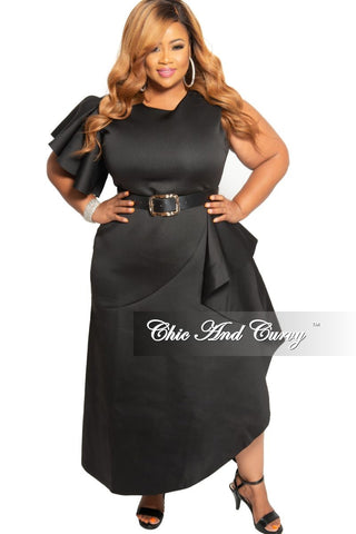 New Plus Size Collared Faux Wrap BodyCon Dress with 3/4 Sleeves in Dark Yellow Brick Print