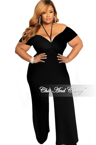 New Plus Size Mesh Spaghetti Strap Jumpsuit with Tie in Black Pink and Royal Blue Print
