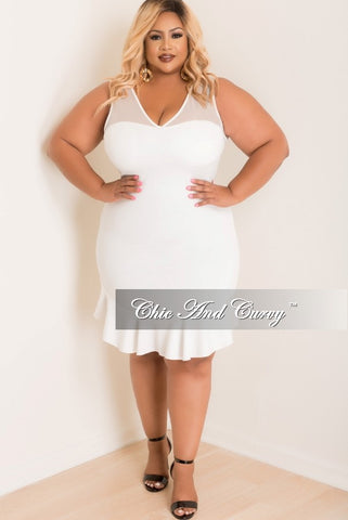 Final Sale  Plus Size Long Sleeve Top w/ Twist Front in White