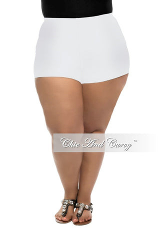 Final Sale Boy Shorts in White