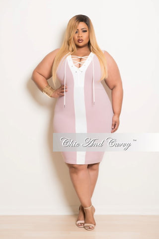 Final Sale Plus Size Jumpsuit with Back Zipper and Knee Cutout in Rose Pink
