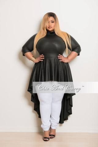 Final Sale Plus Size Liquid Top with Tail in Dark Green