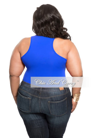 Final Sale Plus Size Leotard in Royal Blue