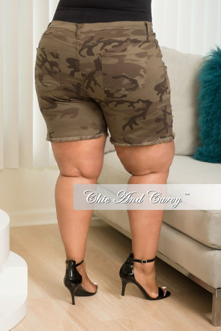 New Plus Size Camouflage Bermuda Shorts