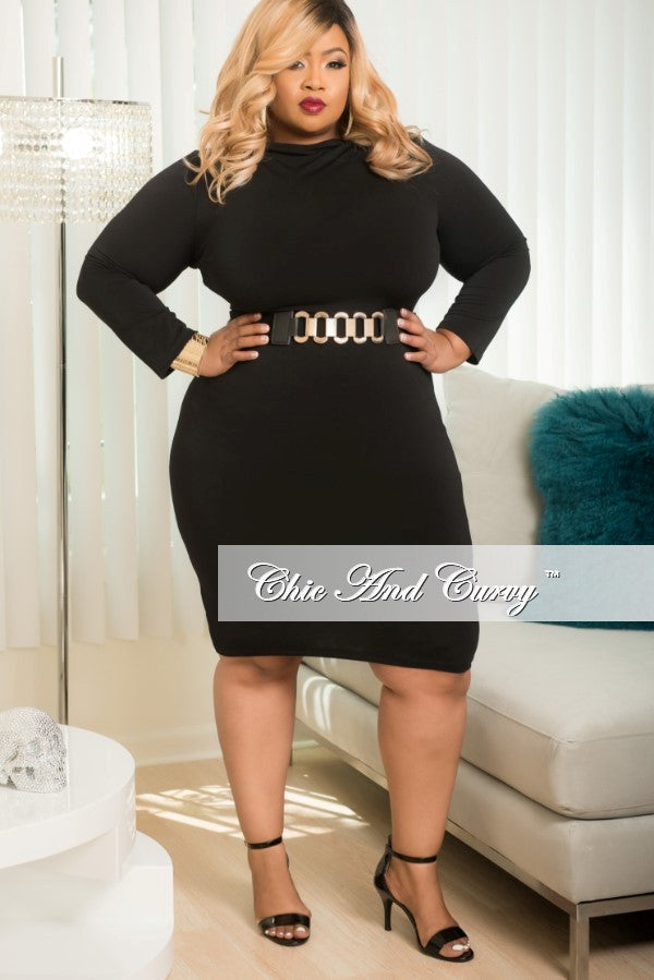Black Plus Size Bodycon