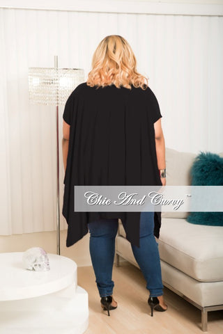 New Plus Size Distressed Top In Black