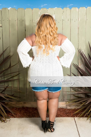 Final Sale Off The Shoulder Knit Top in Ivory