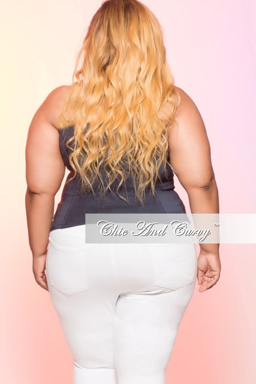 Final Sale Plus Size Corset in Dark Denim