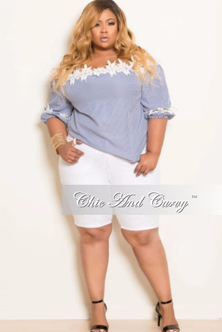 Final Sale Plus Size Bermuda Shorts in White