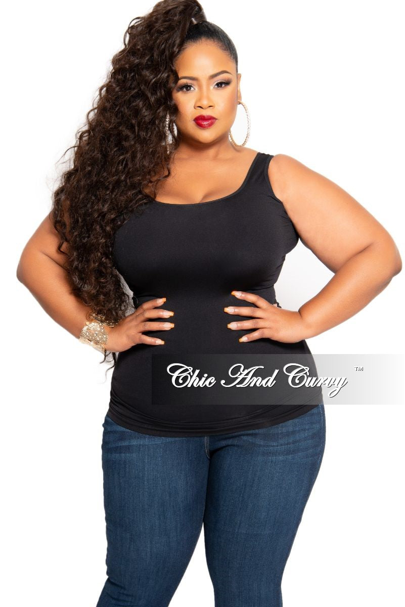 Final Sale Plus Size Camisole with Thick Straps in Black