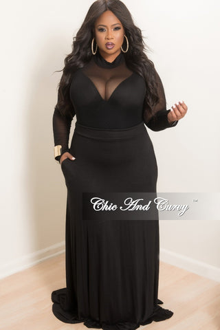 Final Sale Plus Size 2-Piece Duster and Pants Set in White and Black Print