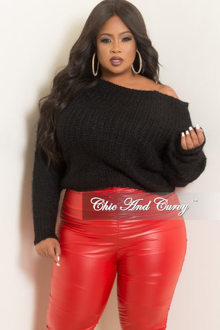 Final Sale Plus Size Mesh Top with Ruching Sleeves in Black