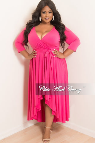 Final Sale Plus Size Off the Shoulder Gown with Front Slit and Gold Back Zipper in Red