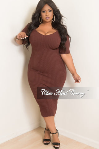 Final Sale  Plus Size Faux Suede BodyCon Dress with Top Fringe in Camel
