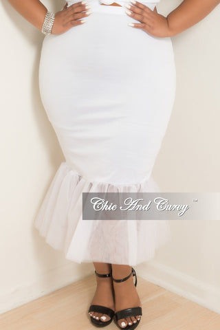 Final Sale Plus Size TuTu Skirt in Mint