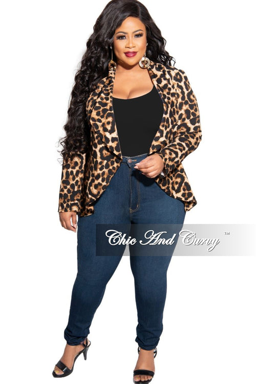 Final Sale Plus Size High Waist Denim Jeans in Dark Blue