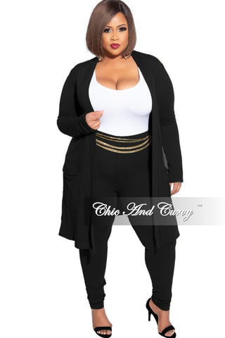 Final Sale Plus Size Elastic Belt with Patent Buckle in Black
