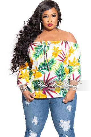 Final Sale Plus Size Mock Neck Lace Top in Black