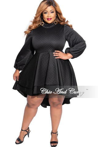 New Plus Size V Neck Bodysuit in Black