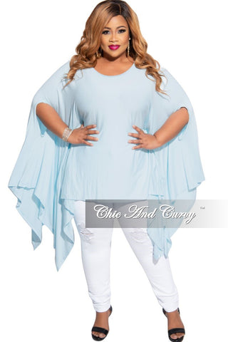 Final Sale Plus Size Tie Maxi Dress with Side Slits in Blue
